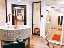 hostel & powder room crane