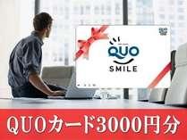 【2014年12月リニューアル】QUOカード3000円プラン【ビジネス・出張】