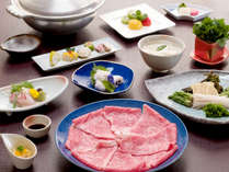 *【近江牛しゃぶしゃぶ一例】滋賀が誇るブランド牛を、料理長特製の手作りポン酢でどうぞ!