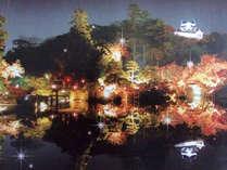 【秋の玄宮園ライトアップ】色彩豊かな紅葉を彩る夜のライトアップ★