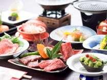 【近江牛会席一例】2つから選べる近江牛料理と滋賀の食材を組み合わせた人気のコースです♪