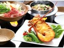 ボリュームたっぷりの伊勢海老味噌焼き、濃厚な味噌が美味。