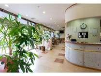 南道後温泉ホテルていれぎ館明るい雰囲気でお客様をお迎えします