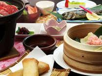 [夕食一例]国産牛の陶板焼きと飲茶のコラボで満腹♪