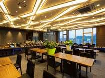 レストラン きずな/桜島の景観を愉しむことができる