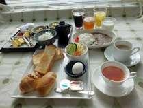 軽朝食ビュッフェ(盛り付け例)お好きなものをお好きなだけどうぞ♪