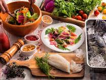 【3~5月限定・夕食ブッフェ】噴火湾産ソイと近郊野菜たっぷりのカルパッチョサラダ。