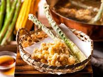 【夕食ブッフェ・2019年夏】とうもろこしとアスパラガスをサクサクの天ぷらに!(変更の場合あり)