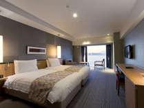 【スパリゾート館スタンダードツイン】36平米の広々とした洋室。