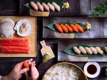 【ブッフェ・2021年秋】板前こだわりの「乃の風寿司」。新鮮な魚介類をその場で握ります。