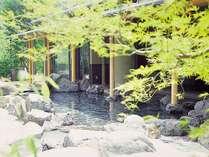 【新緑の露天風呂】奥出雲の大自然を満喫
