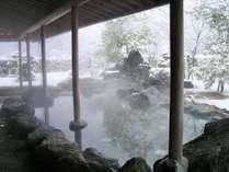 雪見露天風呂(岩) 奥出雲一面の銀世界を思う存分ご堪能を♪
