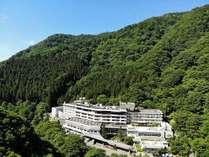 東山温泉でも一番奥、森に囲まれながらゆっくりお休み頂けます。