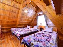 *A棟コテージ(ベッドルーム)/最大6名様までご利用いただけるコテージ。別荘気分をご堪能下さい。