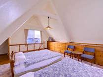 *B棟コテージ(ベッドルーム)/1Fは和洋室、2Fはベッドルーム。お気軽に別荘気分を味わえます。