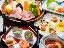 ◆[夕食]豊後牛鍬焼きコース ※写真はイメージです