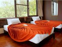 角部屋洋室ツインのお部屋です。エキストラベッドを追加して最大3名様までご宿泊可能です。