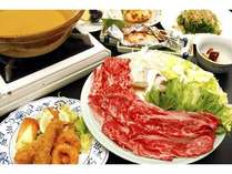 『信州牛』をしゃぶしゃぶ鍋またはすき焼き鍋で♪