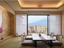 富士山を望む温泉露天風呂付客室和室12.5畳【707】号室