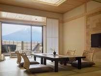 富士山を望む温泉露天風呂付客室(一例)★客室により趣が異なります