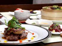 【ご夕食一例】熊本のあか牛ヒレステーキは柔らかくて食べごたえも抜群です。