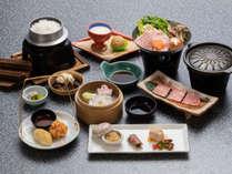 【神戸牛コース(一例)】神戸牛をお召し上がりいただける人気のコースです。