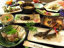 囲炉裏で食す【一番人気・鮎】料理会席プラン・・・清流 揖斐川で育つ鮎を堪能あれ♪