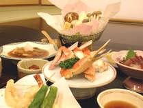 ≪2人で100歳プラン≫ご夕食一例。季節の会席を「お部屋食」でお楽しみください