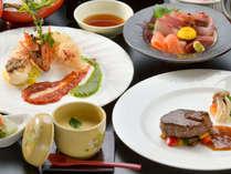 【カップル会席】地元の旬の食材を使用した会席料理