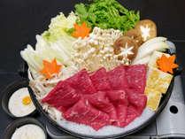 秋の味覚を楽しめる「牛すき鍋」