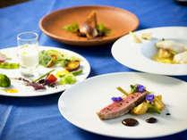 【夕食/一例】地元の食材をふんだんに使用した、宮古島フレンチを存分にお楽しみ下さい。
