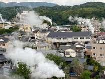 湯煙りたなびく街並み