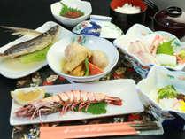 【夕食一例】連泊のお客様にも『食』を楽しんで頂く為、日替わりメニューになっています!