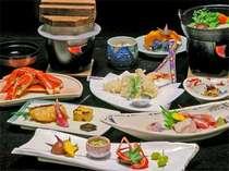 日本海の幸を中心に、若狭の地物でお出しする会席料理の数々。