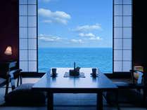 【オーシャンビュー客室】勝山海岸を一望できるオーシャンビューのお部屋