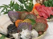 伊勢志摩の旬の魚介類のバーベキュー(食材は一例です)