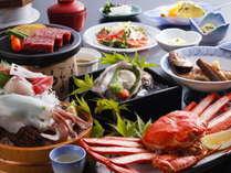 【料理グレードUP】 豪華海の幸を贅沢に愉しむ♪白いかの造り・岩牡蠣・蟹!「山陰うまいもの饗宴プラン」