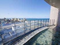 【桐壷の湯・露天風呂】皆生温泉街を一望!★最上階の大浴場は皆生温泉で最も高い展望湯処です