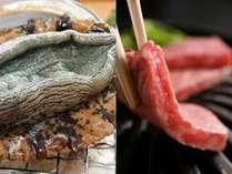 ★高級食材の鮑踊焼、国産和牛の陶板焼をご堪能いただきおもてなしをさせていただきます.