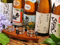 ◆【地酒飲み比べ】地酒は3種類を御用意、ちょっとづつお試してお気に入りの日本酒を探してみては。