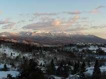 客室からの眺望例:八ケ岳連峰の全景