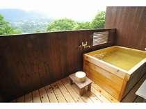 お薦めは朝風呂♪景色を眺めながら入るお部屋の露天風呂は最高の贅沢