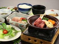 【グレードアップ】新潟牛の陶板焼き