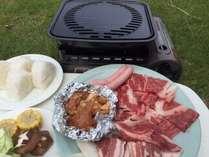【平日】自然いっぱいの野外BBQ!食材は地元のものをたっぷりと/朝食は近江米おにぎり配達/小コテージ