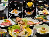 【スタンダード会席☆天翔の膳】国産牛ステーキ、尾頭付き煮魚をメインにした当館一番人気のプラン。