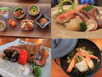 和食コース一例★丹後の旬の素材を贅沢に使い、丁寧に調理された料理がズラリ。心安らぐ和の味わい
