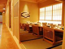 小宴会場。2~12名様までご利用できる、5種類のお部屋をご用意。