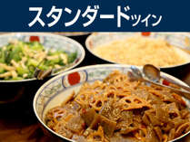 会津の郷土料理が並ぶ朝食バイキング