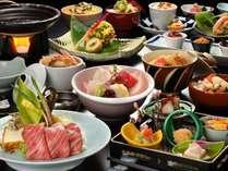 季節によって旬の食材を使った和会席一例。季節の和会席コース
