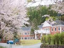 ホテル外観 桜の咲く頃
